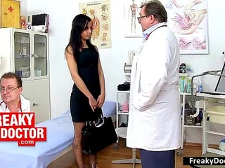 Racist Doctor Examines A Big Nigga Spear